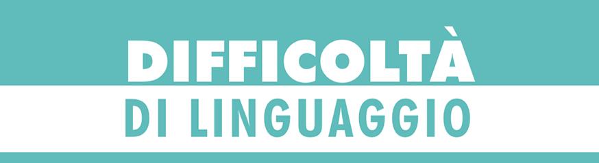 Opuscolo Difficoltà di linguaggio